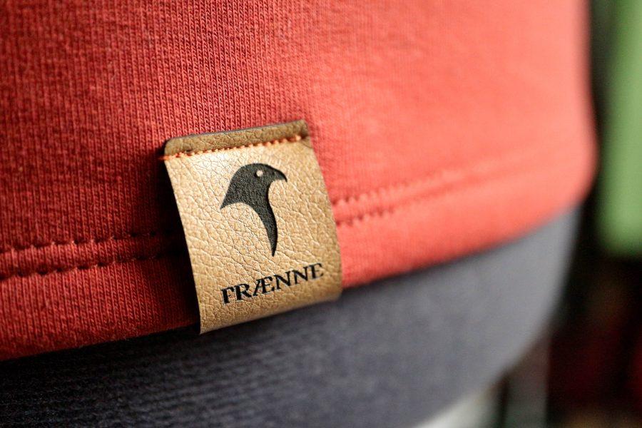 """pullover """"buchfink"""" von fraenne, Detail Label"""