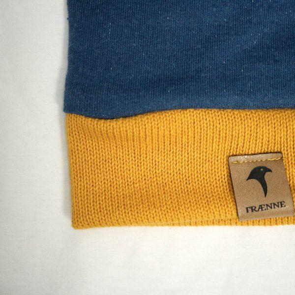 """blauer pullover """"blaumeise"""" von fraenne, label"""